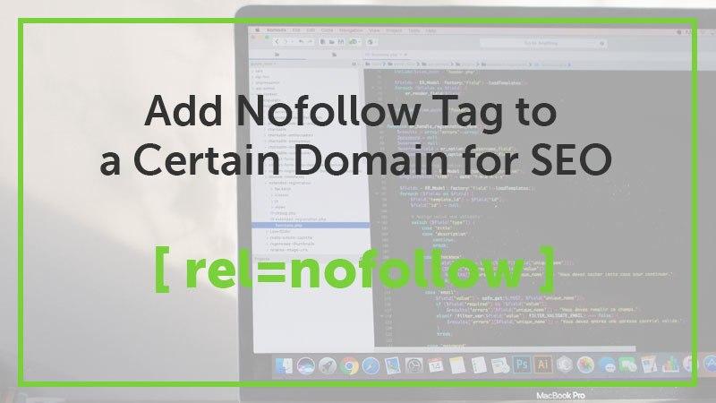 add nofollow tag