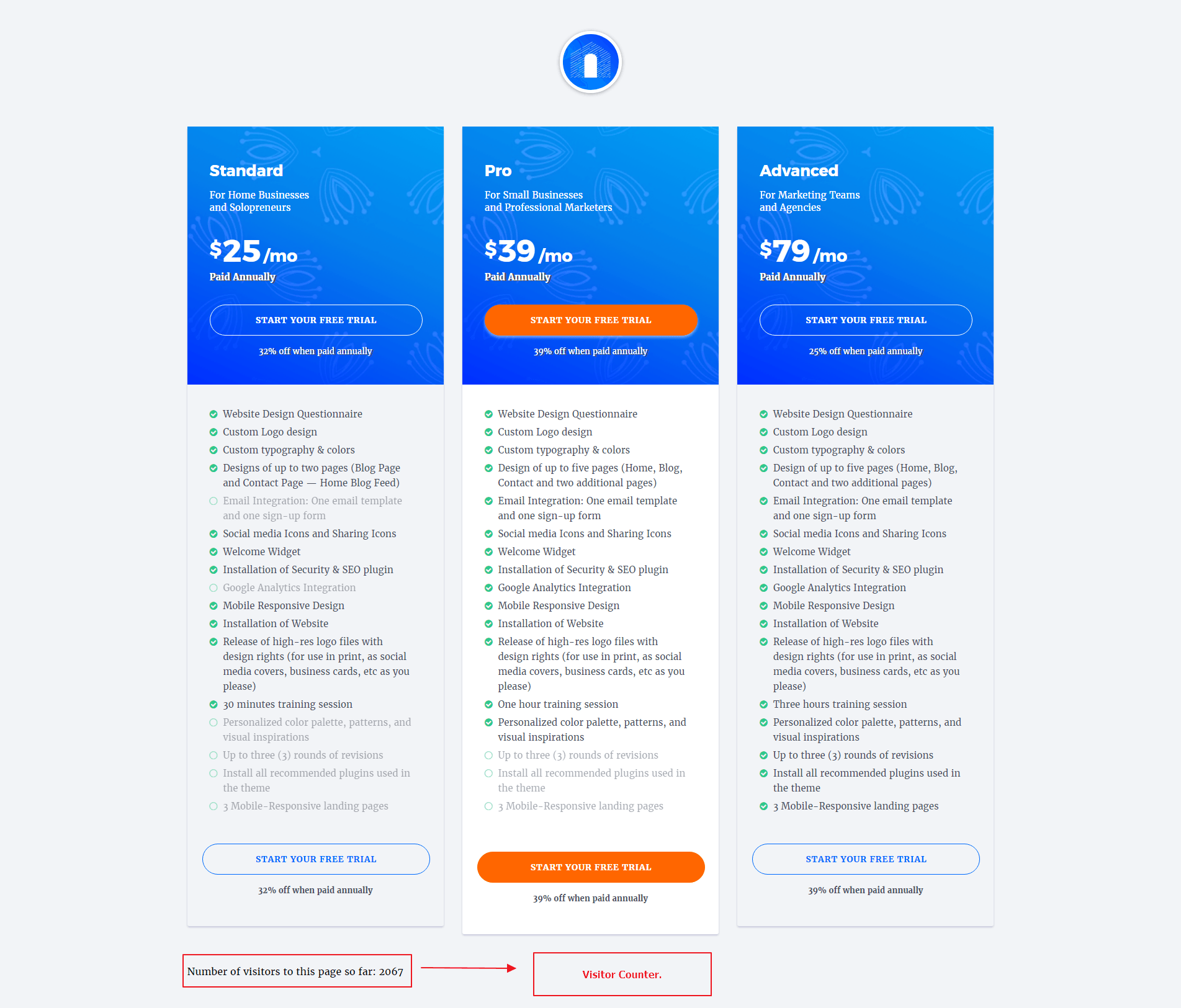 Visitor-Counter-to-Pricing-Table-Page