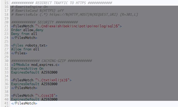 Speed Optimization via .htaccess
