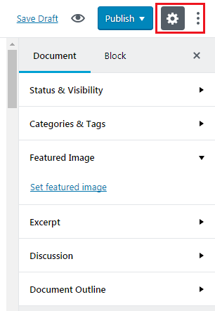 How to Add GUTENBERG Visual Editor to WordPress - Setting Button