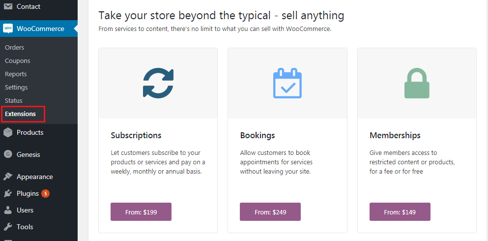How to Build an eCommerce Website Using WooCommerce - Extensions
