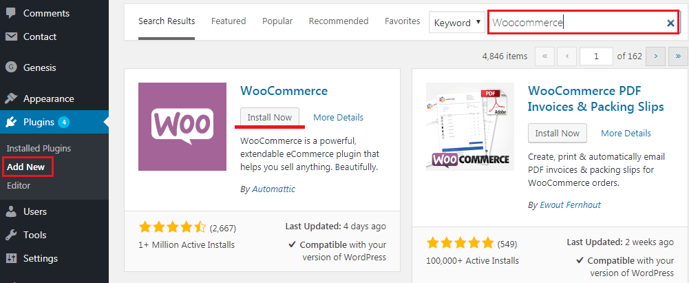 How to Build an eCommerce Website Using WoocCommerce - Instalation