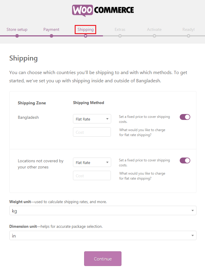How to Build an eCommerce Website Using WoocCommerce - Shipping
