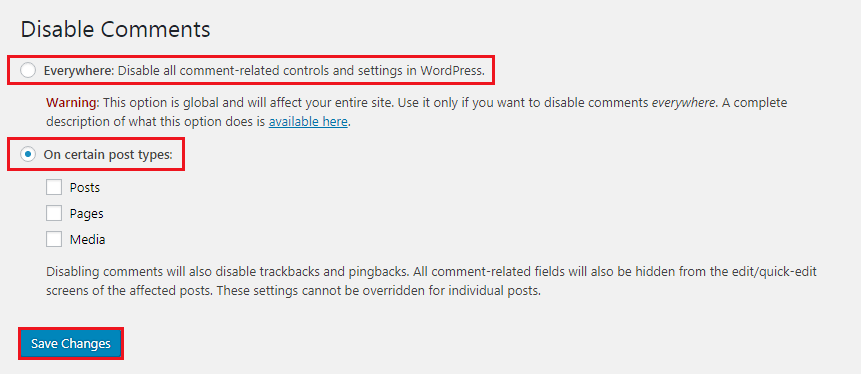 How to Disable Comments on WordPress - Disable Comments Settings
