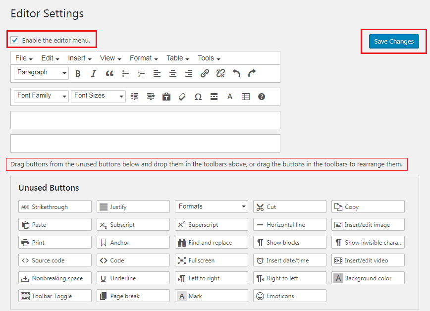 How to Enhance Your WordPress Visual Editor - TinyMCE Editor Settings