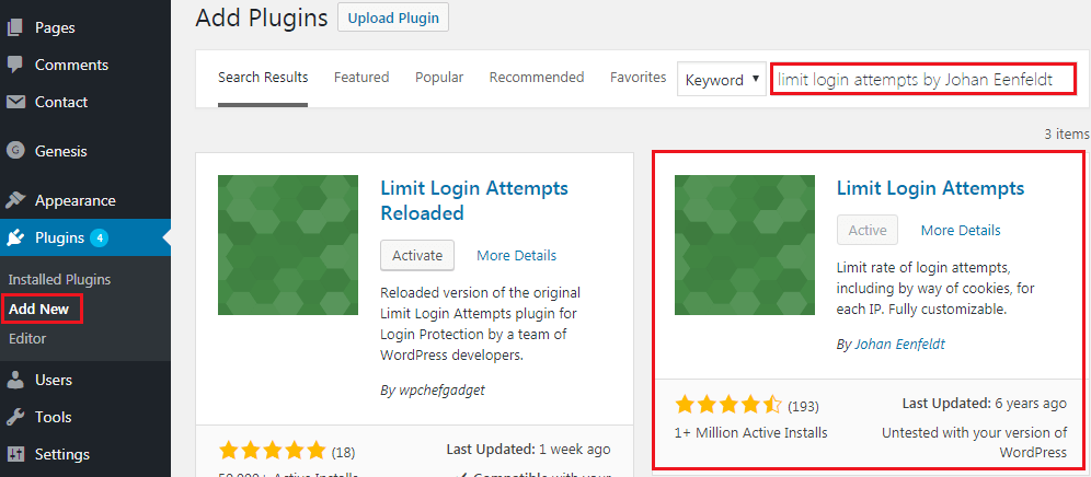 How to Limit WordPress Login Attempts - Limit Login Attempts Plugin Installation