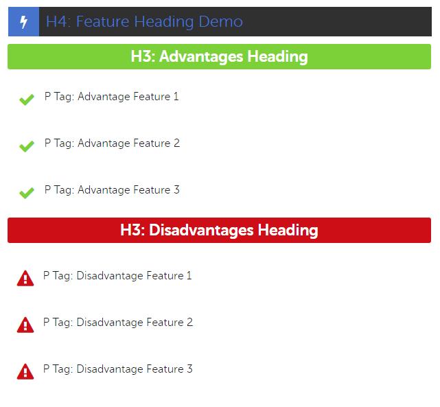 Custom Heading Style Formats Demo