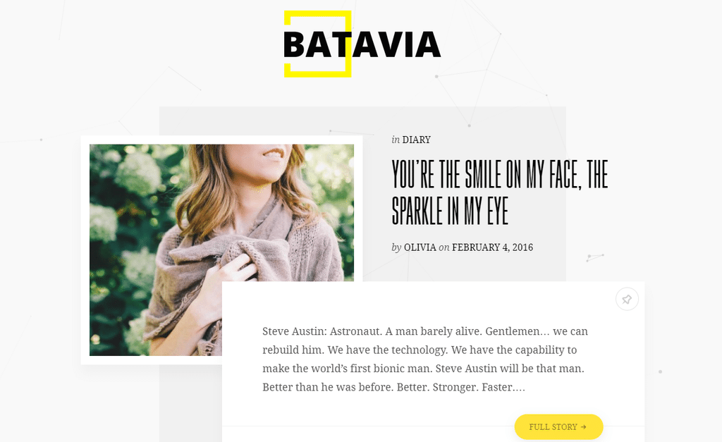 Batavia – A Fresh WordPress Personal Blog Theme