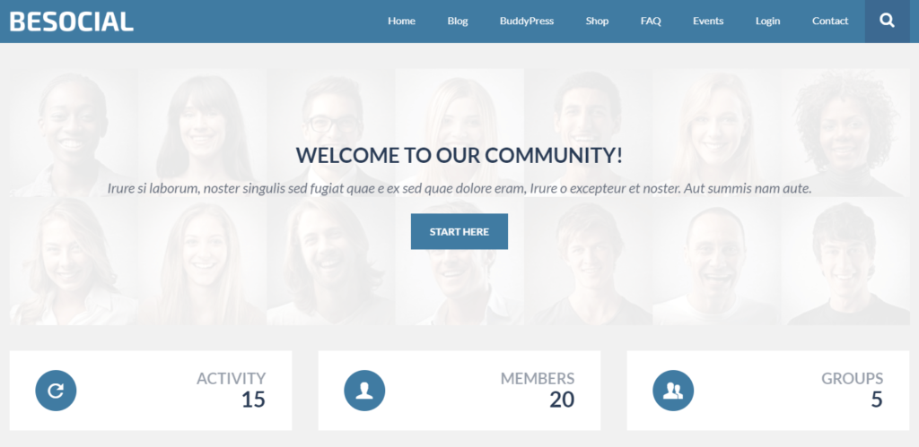 Besocial – BuddyPress Social Network & Community WordPress Theme