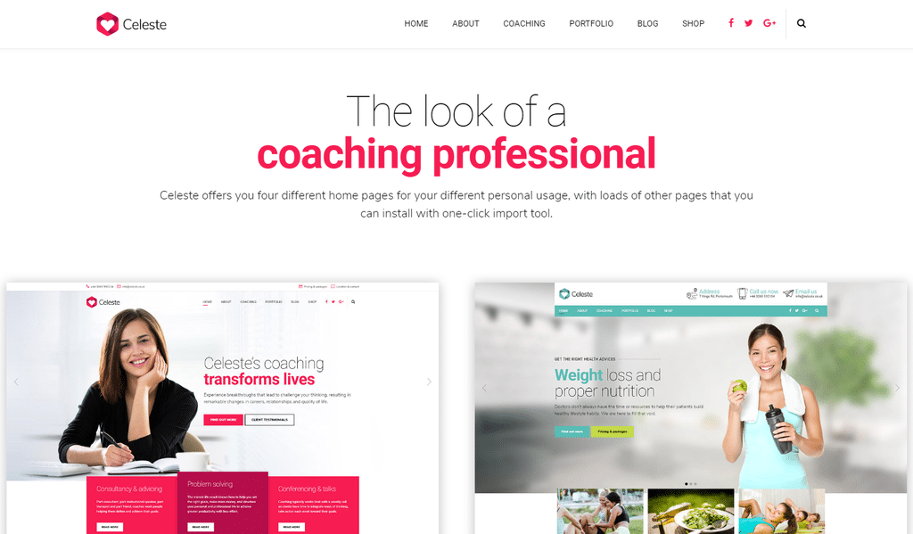 Celeste – Life Coach and Therapist WordPress Theme