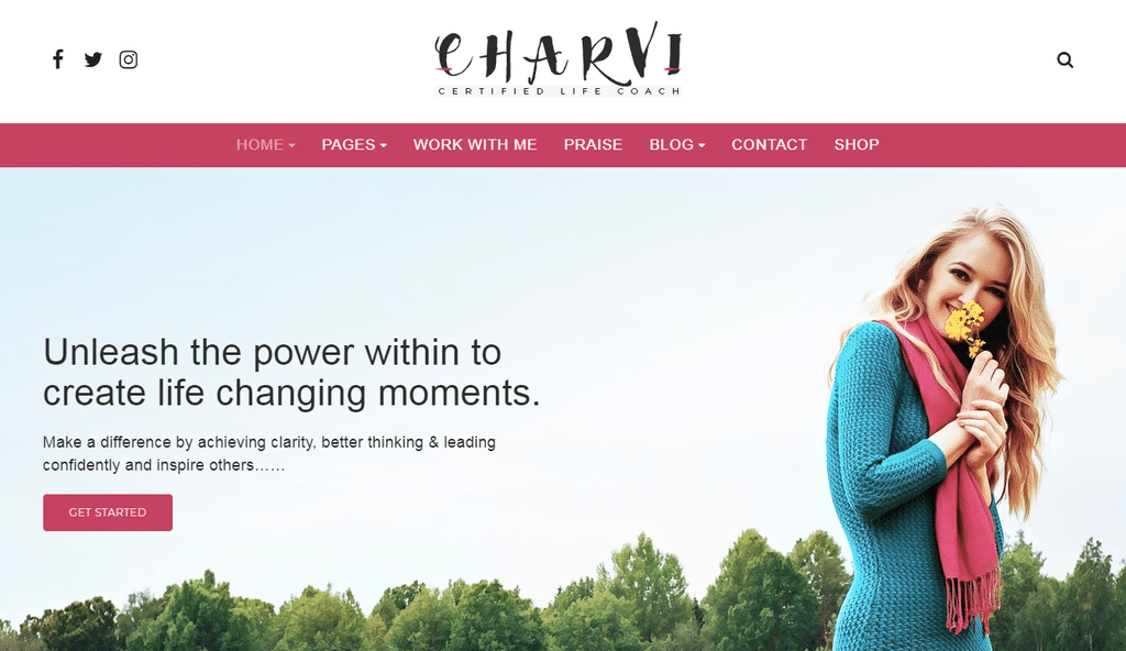 Charvi Coach & Consulting – Feminine Business WordPress Theme