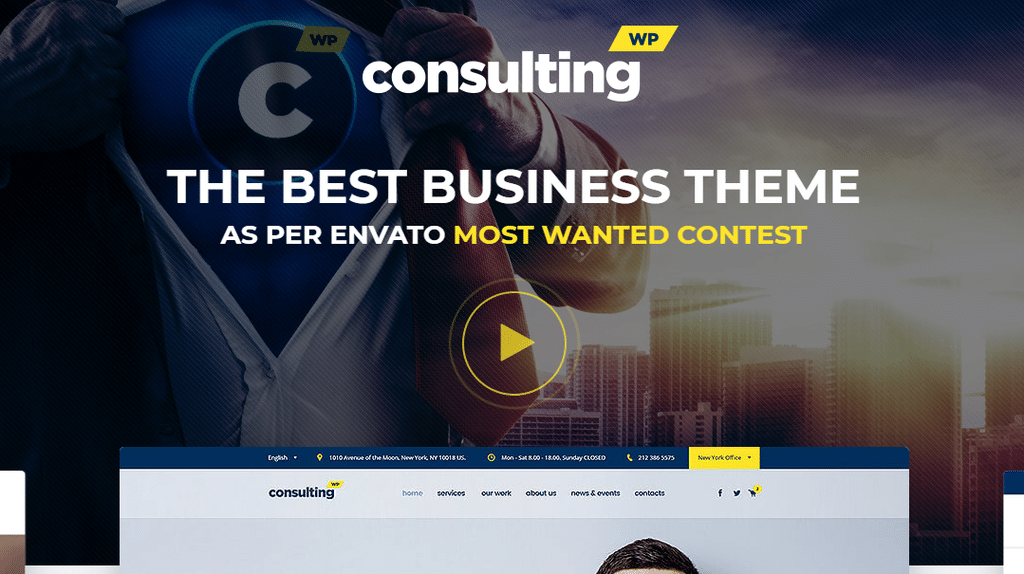 Consulting – Business, Finance Corporate WordPress Theme