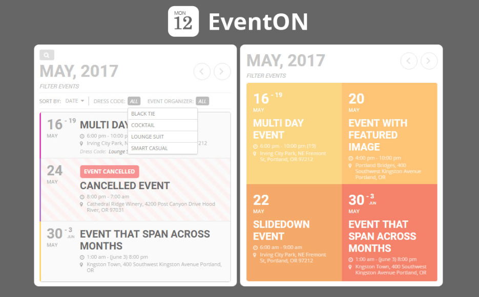 EventOn – WordPress Event Calendar Plugin