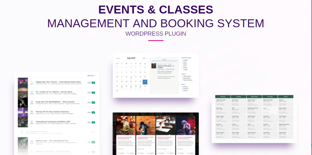 Events Schedule – Calendar WordPress Plugin