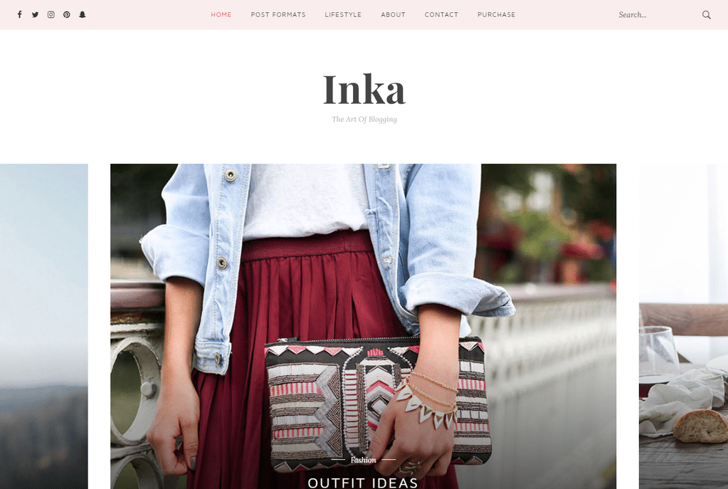 Inka – Minimal Blog WordPress Theme