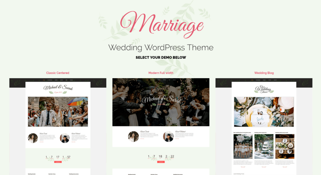 Marriage – Responsive Wedding WordPress Theme