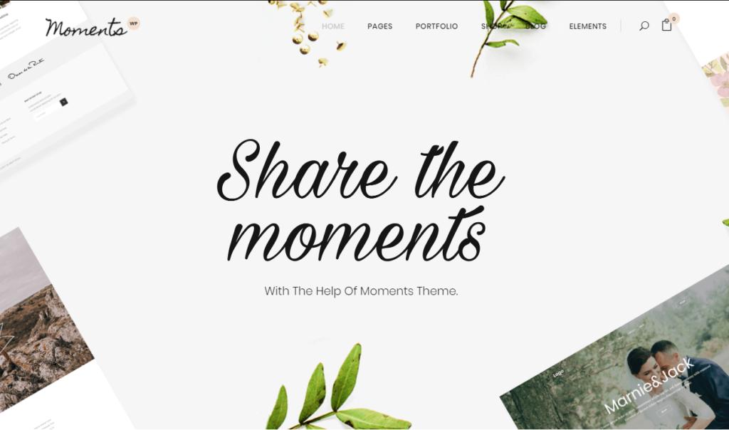 Moments – Wedding, Celebration & Event Theme