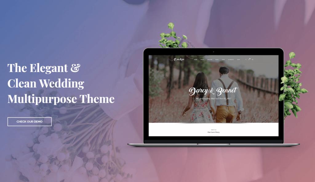 OneLove – The Elegant & Clean Multipurpose Wedding WordPress Theme