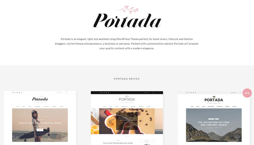 Portada – Elegant BlogBlogging WordPress Theme