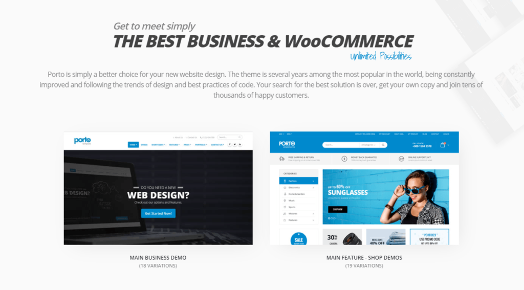 Porto – Multi-Purpose WordPress & Ultimate WooCommerce Theme