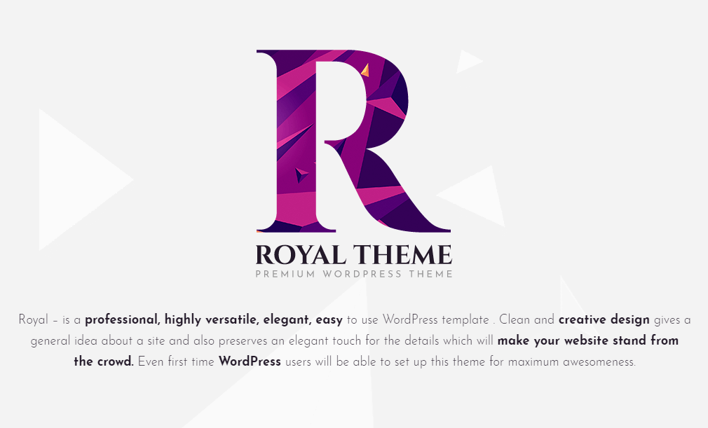 Royal – Multi-Purpose WordPress Theme