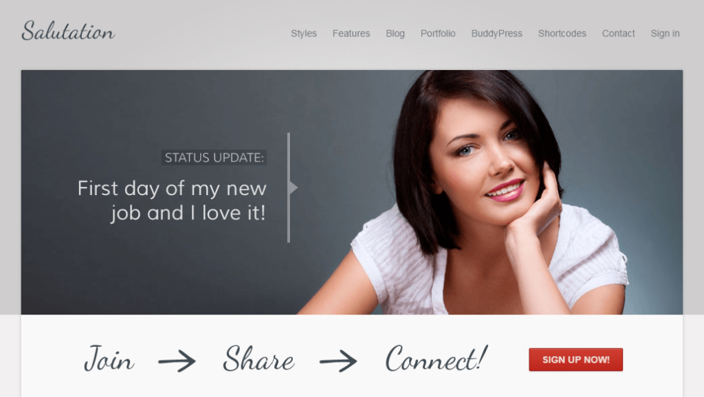 Salutation – Responsive WordPress + BuddyPress Theme