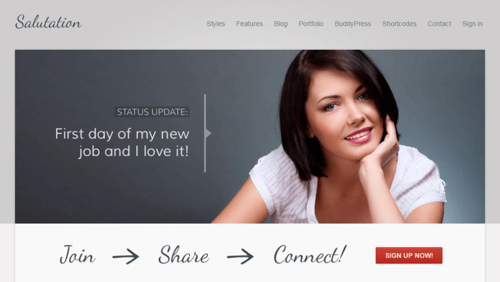 Salutation – Responsive WordPress + BuddyPress Theme