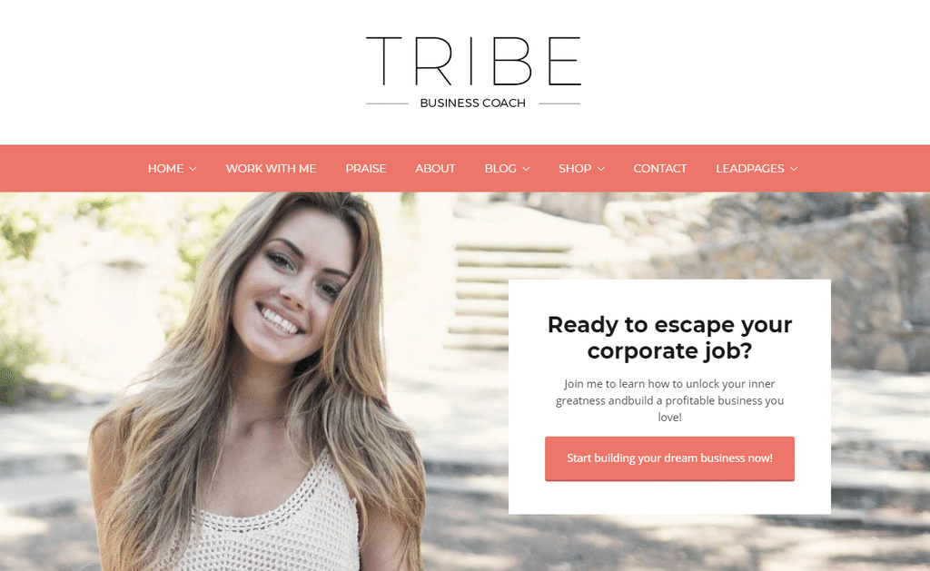 Tribe Coach – Feminine Coaching Business WordPress Theme