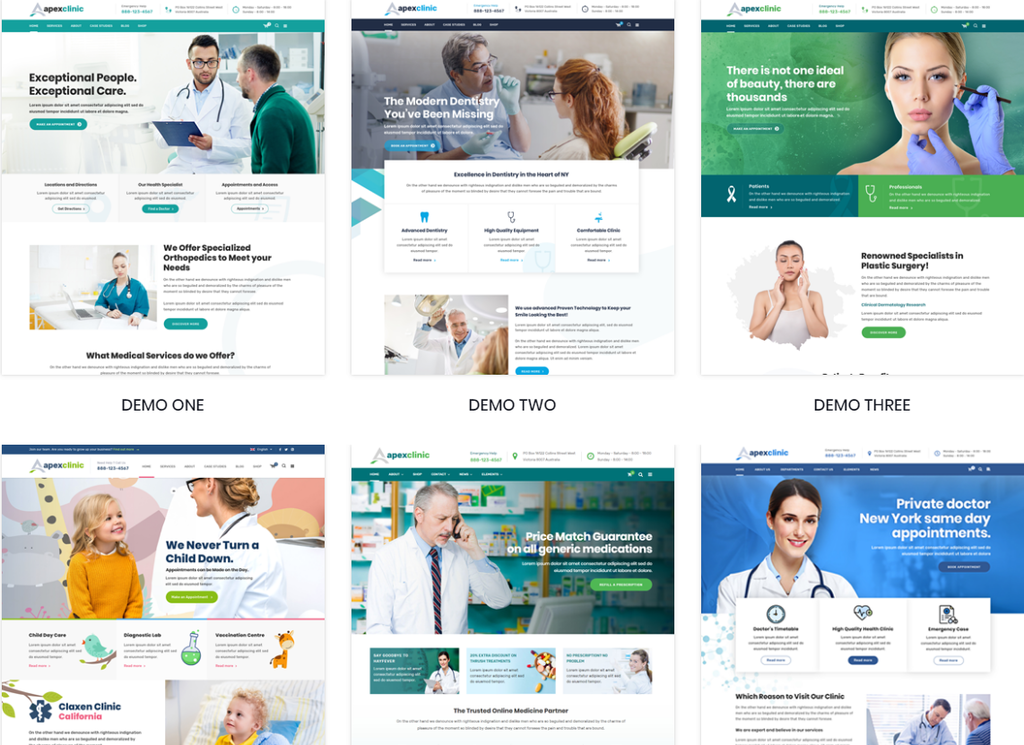ApexClinic - Health & Medical WordPress Theme