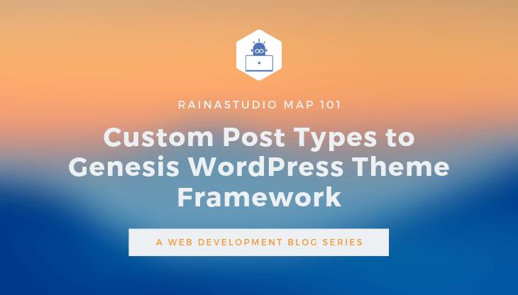 Custom Post Types to Genesis WordPress Theme Framework