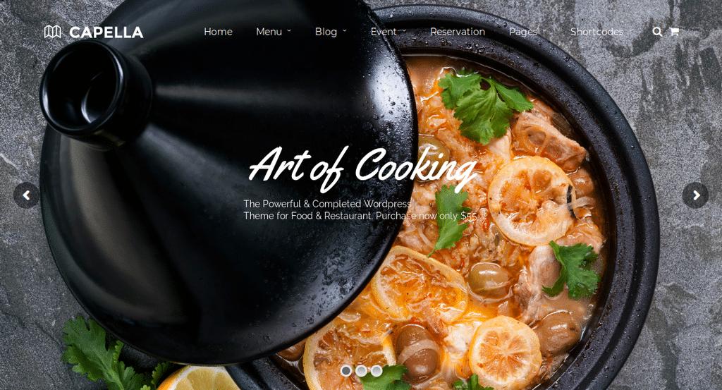 Capella WordPress Restaurant Theme