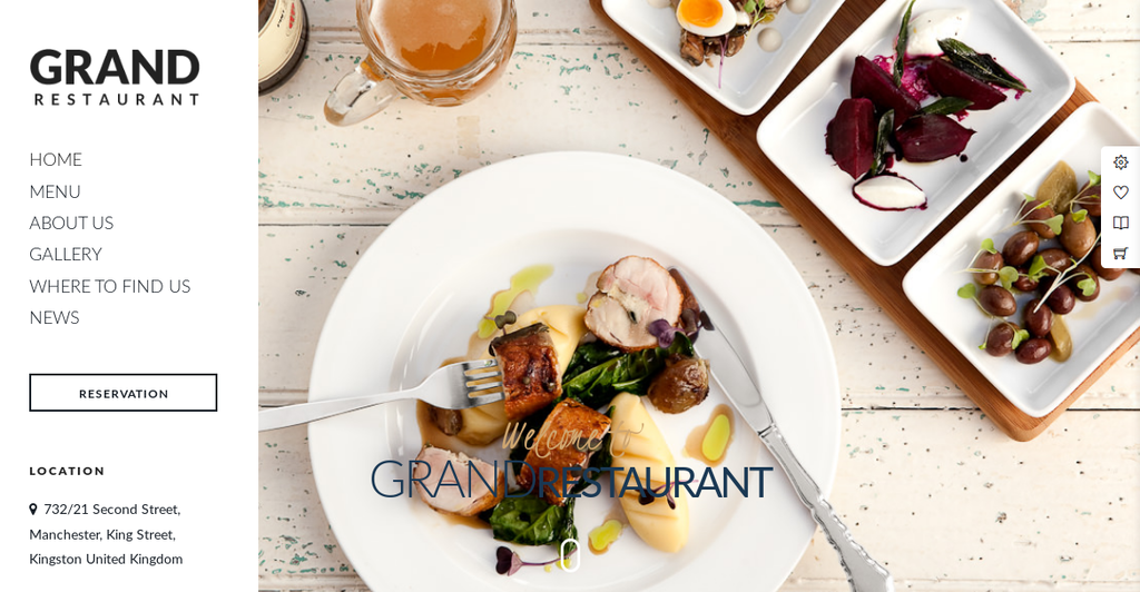 Grand Restaurant - The Best WordPress Theme