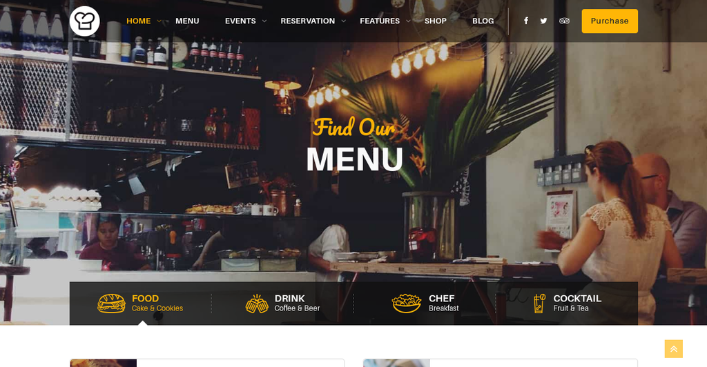 Resca Best WordPress Theme fo Restaurant