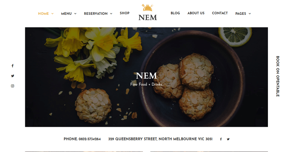 Restaurant WordPress Theme | Restaurant NEM