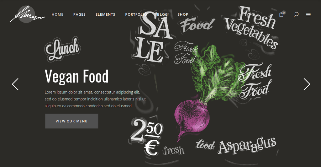 Savory WordPress Theme for or restaurant, butchery, pizzeria