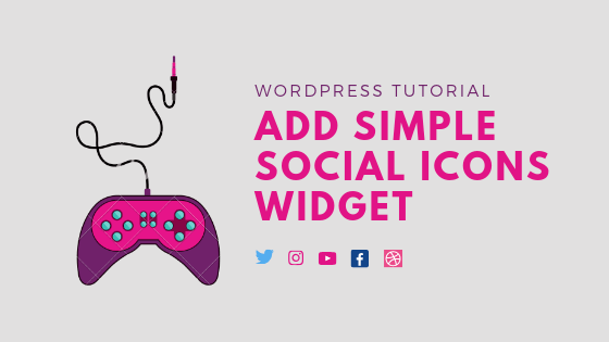 Add Simple Social Icons Widget