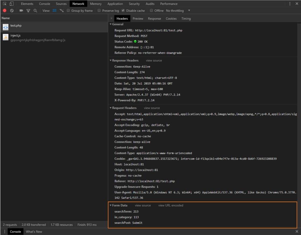 HTML FORM POST METHOd