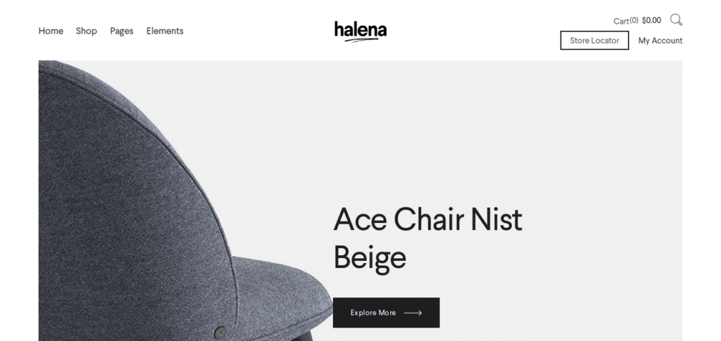 Halena – Minimal Modern eCommerce WordPress Theme