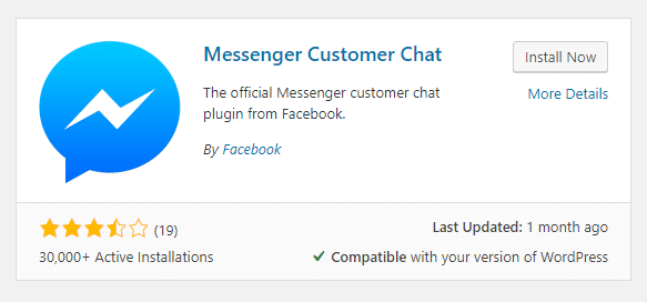 Messenger customer chat plugin