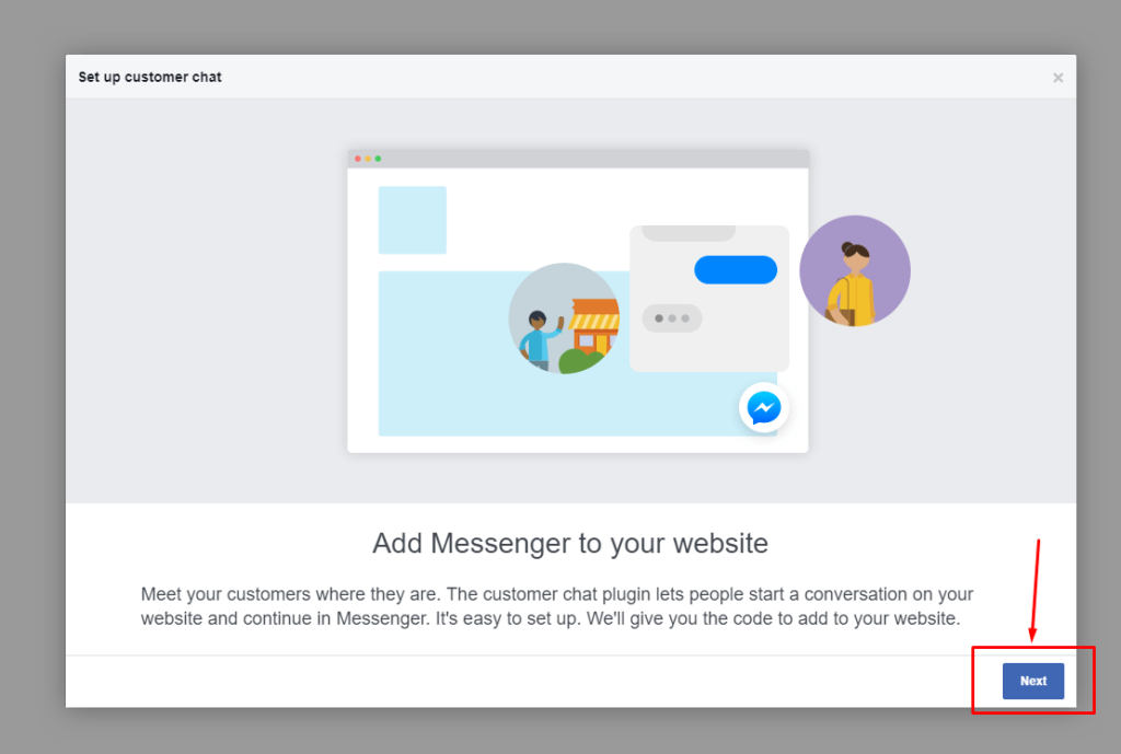 Add messenger to website
