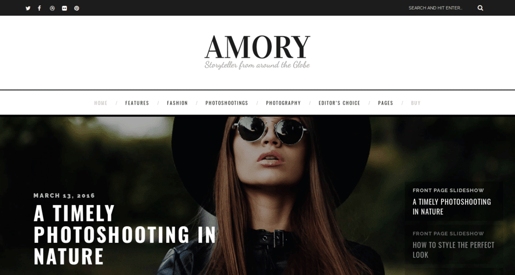 Amory - A Responsive WordPress Blog Theme