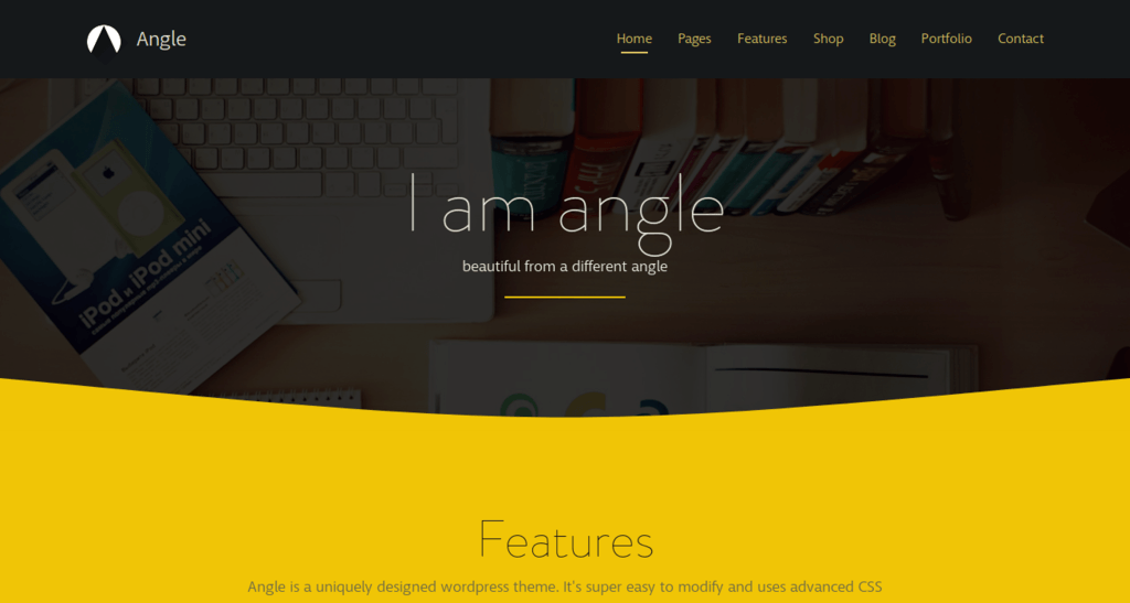 Angle - Flat Design Bootstrap Theme