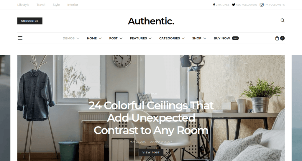 Authentic - Lifestyle Blog & Magazine Theme