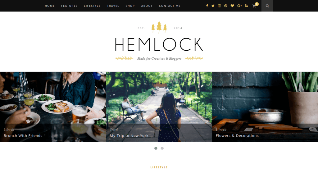Hemlock - Another Responsive WordPress Theme for Blog