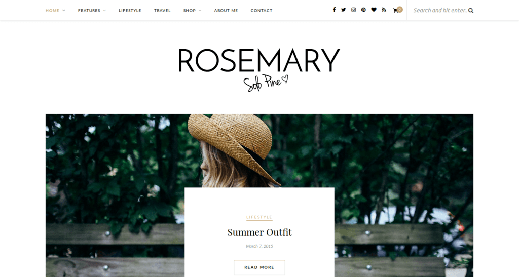 Rosemary - Responsive WordPress Blog Theme