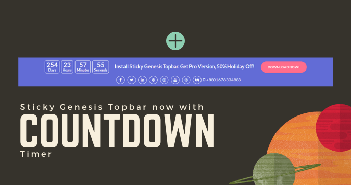 Sticky Genesis Topbar: Countdown Timer