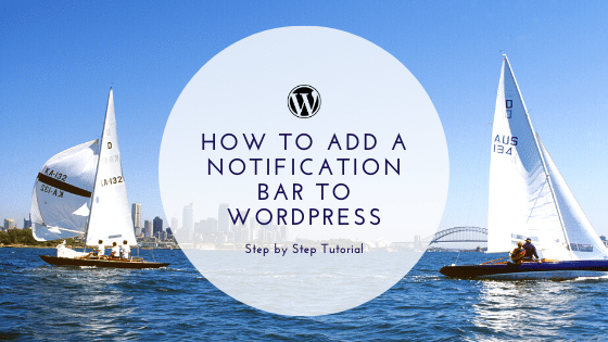add a Notification Bar to WordPress