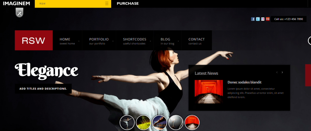 Rsw - Photography Theme for WordPress