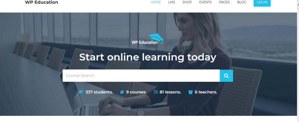 Rising/WP Education – LMS WordPress Theme