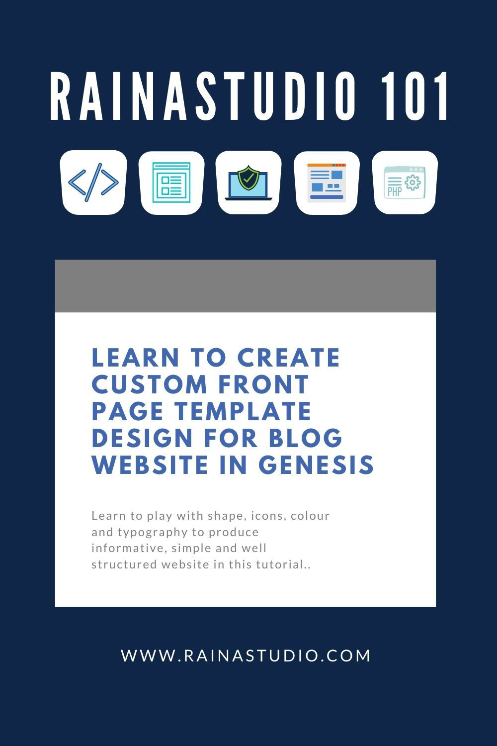 ​Custom Front Page Template Design for Blog Website in Genesis
